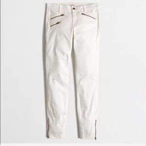 J. Crew Factory White Sateen Skinny Jeans 25 NWT